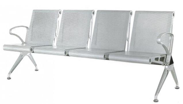 Ghế 4 chỗ nhũ bạc HP3-4S1