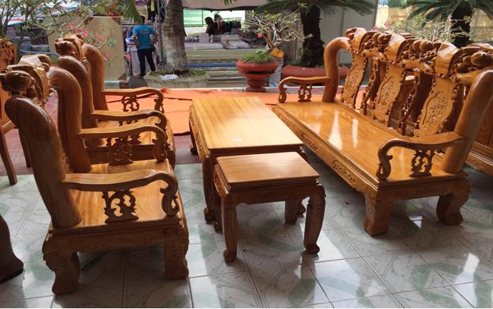 Bộ ghế gỗ cao cấp HP-907J