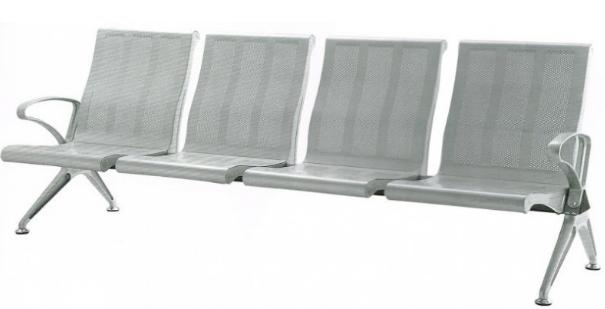 Ghế 4 chỗ nhũ bạc HP4-4S1
