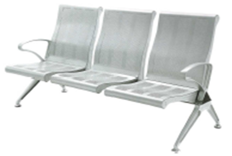 Ghế 3 chỗ nhũ bạc HP4-3S1