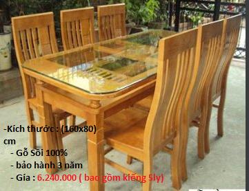 Bộ bàn ghế gỗ HP-100