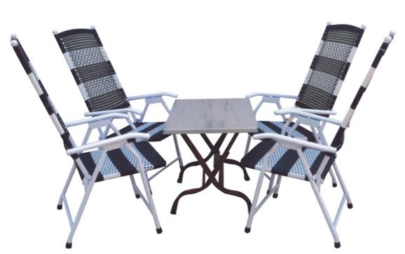 Bộ bàn ghế mây cafe HP-37U