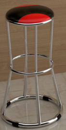 Ghế bar 3 vòng inox HP-28W